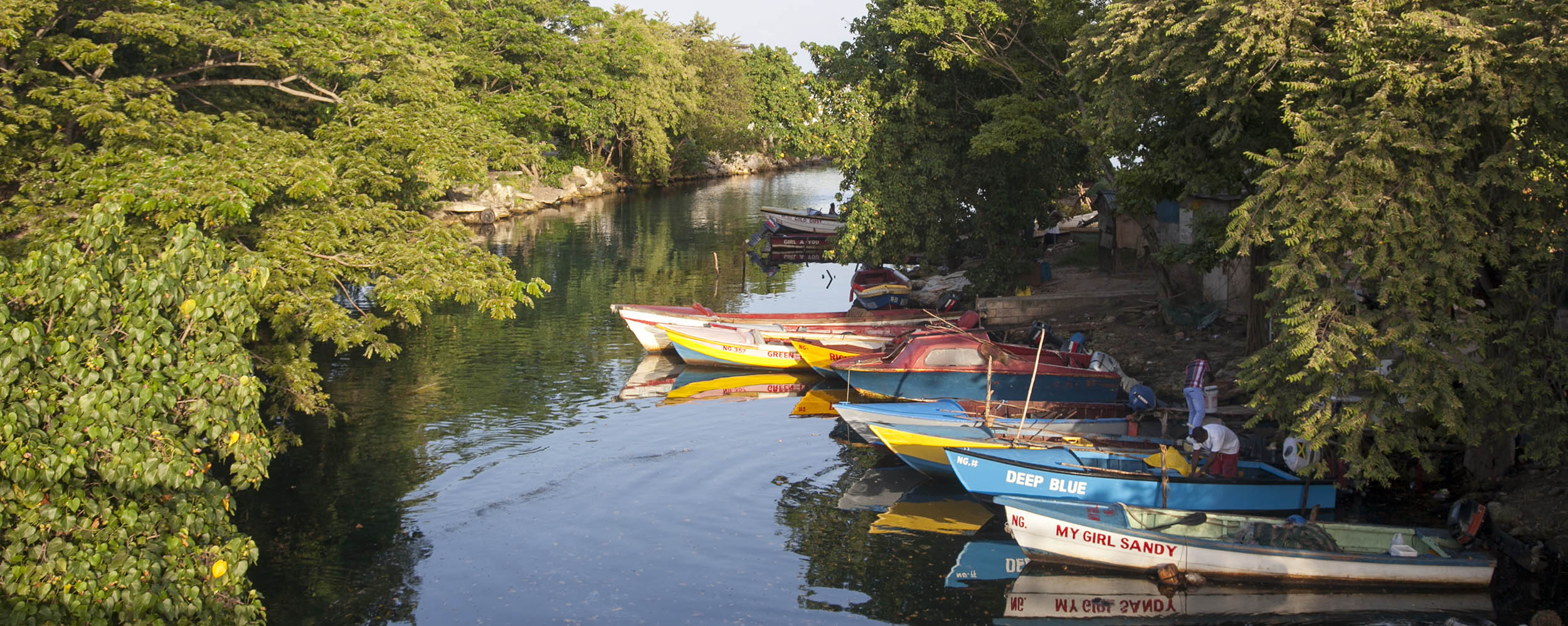 River and Fishing Village, Negril Jamaica
